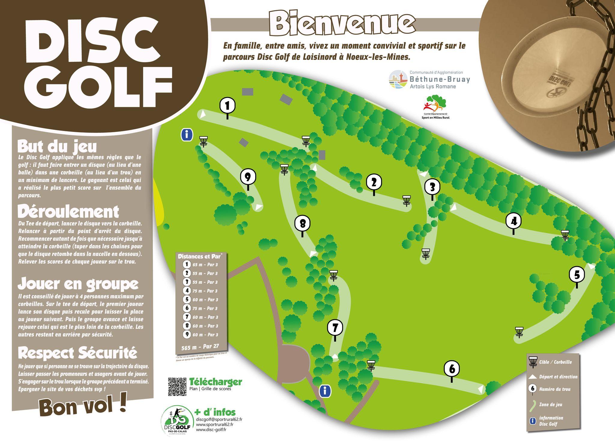 Disc Golf - Parcours Noeux - Plan (mini)