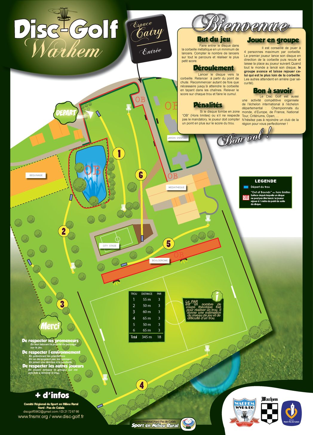 Disc Golf - Parcours Warhem - Plan (mini)